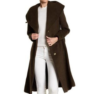 Cole Haan Wool Blend Long Coat size 14 new